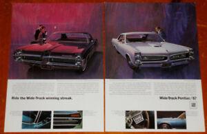 1967 PONTIAC GTO & BONNEVILLE HARDTOP SEDAN AD - VINTAGE RETRO