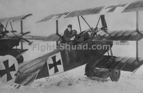WW1 War Picture Photo German Baron Richthofen Red Baron ace 80 wins plane 3945