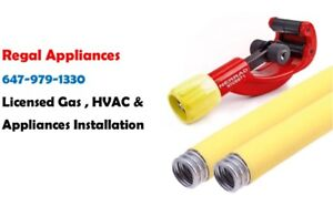 Gas Hookup $75:Licensed. Appliances Installation, Furnace Repair