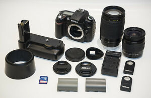 Nikon D90 with 28-80mm and 70-300mm lenses w/ all accessories