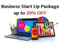 Business start up Package, WEBSITE, Bespoke Logo, B Card, Flyer, Letterhead All Included!!!
