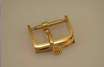 Vintage ROLEX 20mm. Buckle Steel Marked: ACIERINOX ROLEX in Gold Plated.