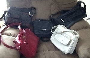6 PURSES $5-$10   NEW or GENTLY USED HANDBAGS : new leather mult