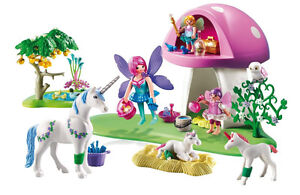 Playmobil Fairies with Toadstool House (6055) in Box - like new