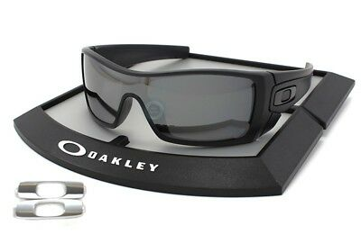 New Oakley BATWOLF Polarized Sunglasses Matte Black Ink/B Iridium 9101-35 Shield
