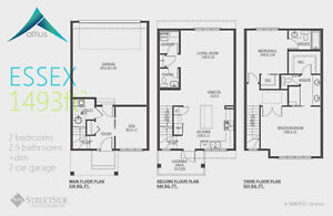Altius Townhouses/upto1502sq.ft/3Bedroom/2.5Bath/Double A Garage Edmonton Edmonton Area image 5