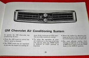 RARE Canadian 1969 Chevrolet Bel Air Impala Owner's Manual OEM Prince George British Columbia image 4