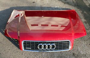 AUDI A4 (B6) QUATTRO OEM HOOD WITH GRILL (Red color) 2002-2005