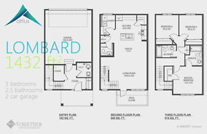 Altius Townhouses/1502sq.ft/3Bedroom/2.5Bath/Double Att.Garage Edmonton Edmonton Area image 5