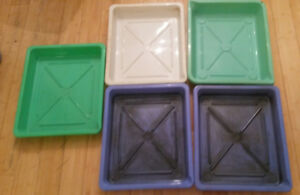 Five - 11x14 inch darkroom printing trays