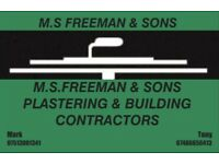M.S.FREEMAN & SONS PLASTERING &BUILDING CONTRACTORS