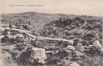 CYPRUS POSTCARD FAMAGUSTA RUINS OF SALAMIS FOSCOLO EARLY CARD