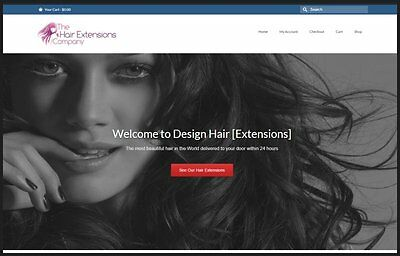 Hair Extensions Website Earn 256 A Salefree Domainfree Hostingfree Traffic