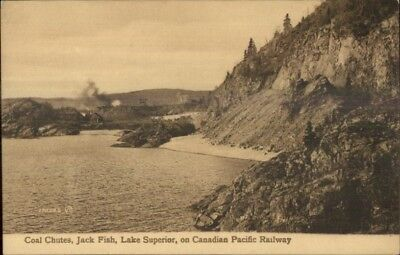 Canadian Pacific Railway Coal Chutes Jack Fish Lake Superior c1910 Postcard for sale  Shipping to Canada