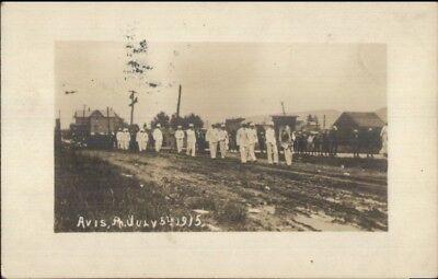 Avis Pa July 5Th 1915 Parade Real Photo Postcard Jrf