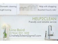 Domestic cleaning service HELP2CLEAN. Friendly&reliable!