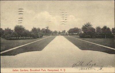Long Island Italian - Hempstead Long Island NY Brookholt Park Italian Gardens c1910 Postcard
