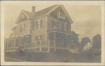 For sale Home - W. Boylston MA Written on Back c1910 Real Photo Postcard