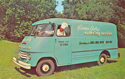 Madison WI Carson Gulley Catering Service GMC Delivery Truck Postcard