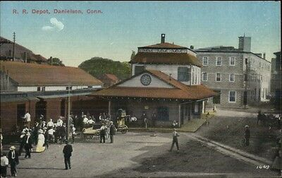 Danielson Ct Rr Train Station Depot C1910 Postcard