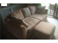 Three Seater Settee, Two Seater Settee and Storage Footstool
