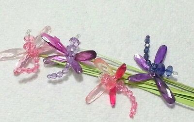 Jeweled Dragonfly Floral Picks 28in PINK MIX Spring Decor Weddings Crafts BF](Spring Decorations)
