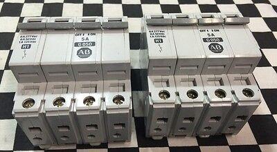 Lot Of 2 Allen Bradley 1492-cb3-g050 4 Pole 5a 1492cb3g050 Shipsameday1625x