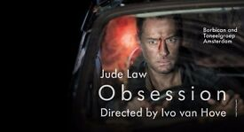 Obsession x2 tickets this Saturday 20th May 19:45 at The Barbican
