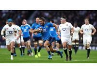 THIS WEEKEND ITALY V ENGLAND IN ROME SIX NATIONS HOTEL AND MATCH TICKETS FOR TWO OR FOUR PEOPLE £175