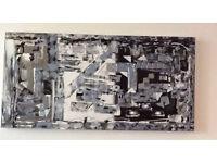 Abstract Wall Art;Mosaic an Original Canvas 100 x 50cm Hand Painted