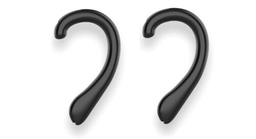 Soft Silicone Ear Protection Hook Earmuffs for Face Mask Black (Pair)