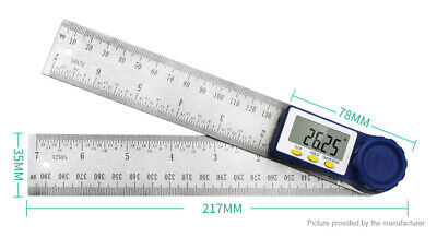 200mm Digital Electronic Spirit Level Angle Ruler Inclinometer