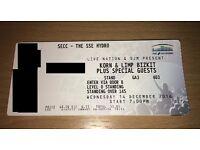 Korn & Limp Bizkit - SSE Hydro, Glasgow - one standing ticket