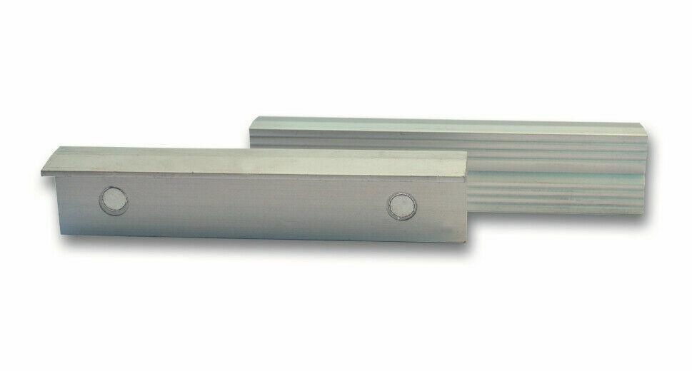 Alu Schutzbacken Prismenbacken Schonbacken 200 mm magnetisch für Schraubstock