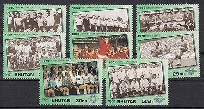BHUTAN, 1991 Fußball-WM 1446-53 **, (22077)
