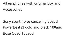 Earphones for sale