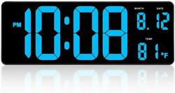 14.5 Inches Extra Large LED Digital Clock with Date Indoor Temperature Display