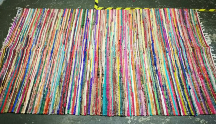 Beautiful 2.7x1.5m Cotton Rag Rugs (Made in India)