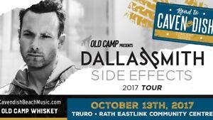 3 Tickets - Dallas Smith at the RECC - Truro - Oct. 13