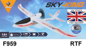New F959 Sky King 2.4G 3 Channel RC Aircraft RTF Airplane UK fast delivery