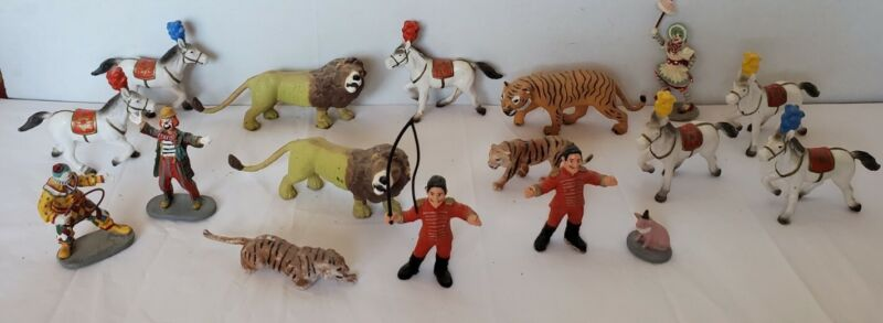 VTG Bully Germany Applause Plastic Circus Figurines Lot Horses, Clowns, Animals