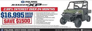 Polaris Ranger XP 900 (No EPS) Save an extra $1000 Fulham West Torrens Area Preview