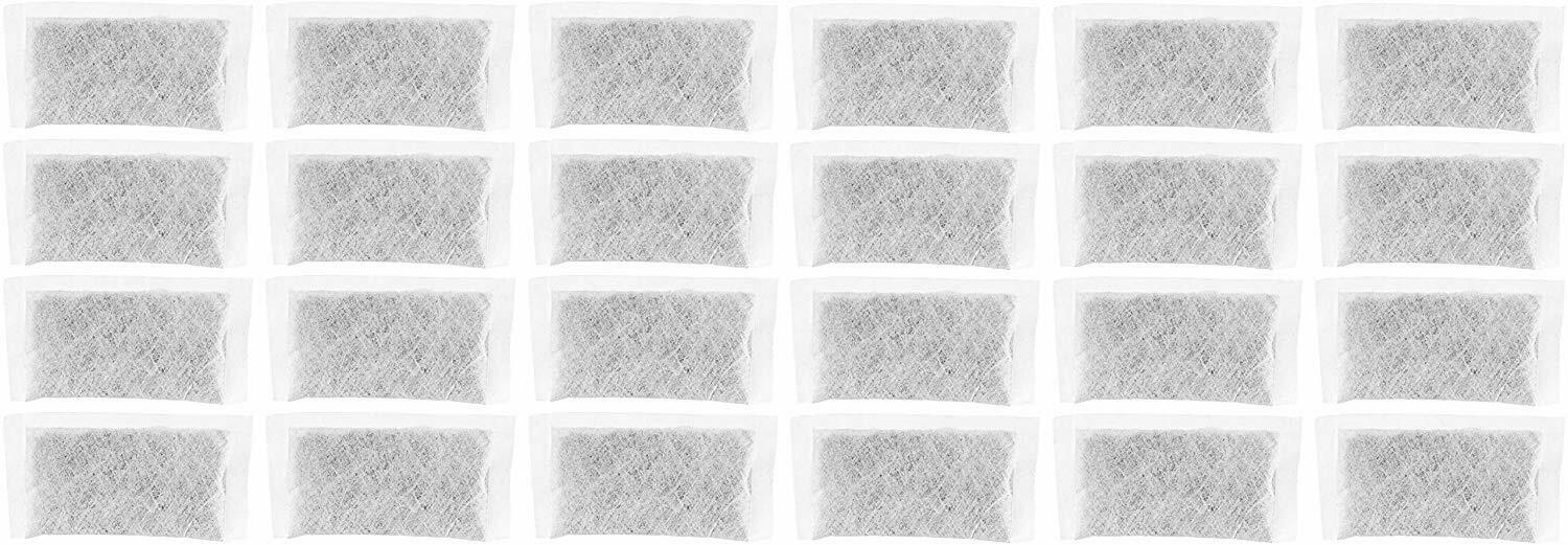 24 Pack Replacement Activated Charcoal Water Filters Counter