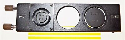 Nikon Diaphot 200300 Inverted Microscope Phase Slider And Annuli