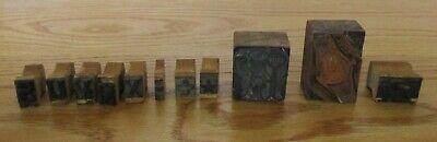 Vintage Metal Wood Printing Letterpress Blocks Watch Policeman Stop Letters