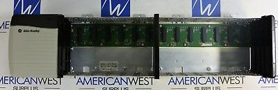 1756-a13 B Allen Bradley Controllogix 13 Slot Rack With 1756-pa75 B Good
