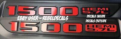 2019 REBEL OR SPORT HOOD Dodge Ram 1500 HEMI 57L Hood Emblem 2020 Decals