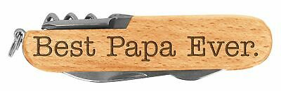 Fathers Day Gift for Grandpa Best Papa Ever Laser Engraved Wood 6 Function