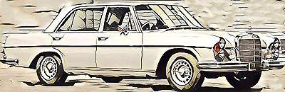 AUSVERKAUFT: Mercedes S-Klasse W108 W109 1966-73 Windschutzscheibe Voorruit KLAR