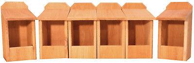 6 Cedar Nesting Boxes, for Robins, Cardinals, Bluebirds, Titmouse.... Bird House